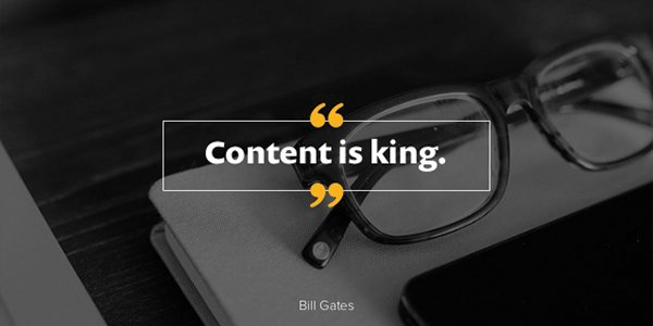 Content is King for Websites!