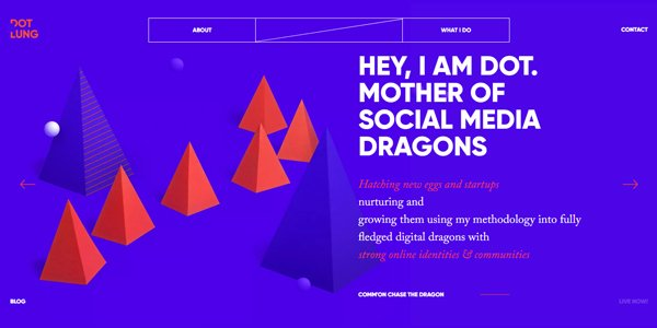 Websites with Bold & Bright Colors