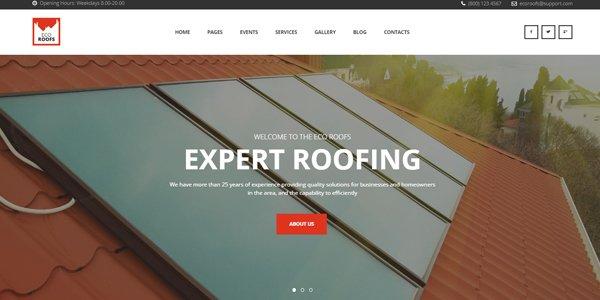 Eco-Roofs - Roofing Renovation WordPress Theme