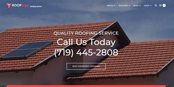 Roofing Service WordPress Theme