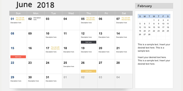 Events Calendar for Your Website